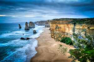 Great ocean road from above