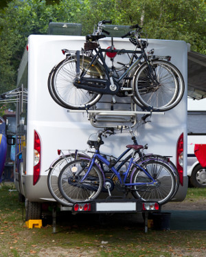campervan with bikes