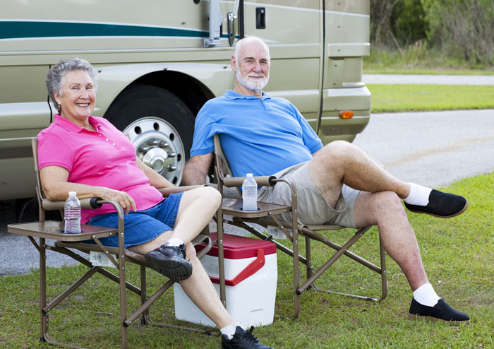 Seniors Relaxing Outdoors